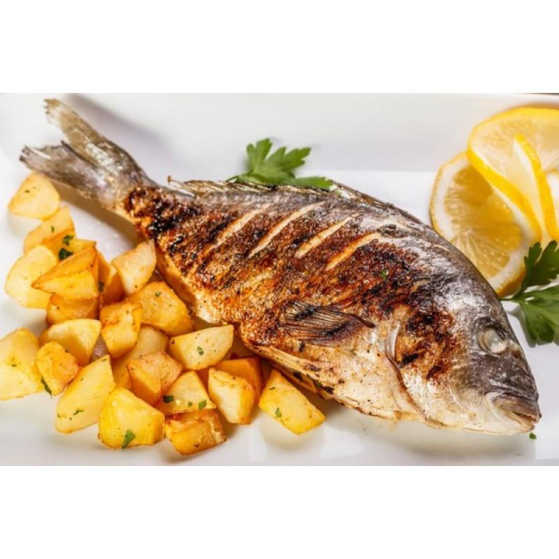 Рыба запеченная целиком Семга