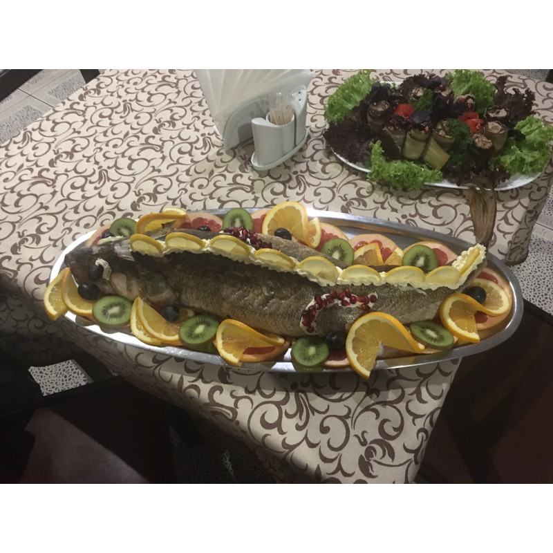 Рыба запеченная целиком Судак