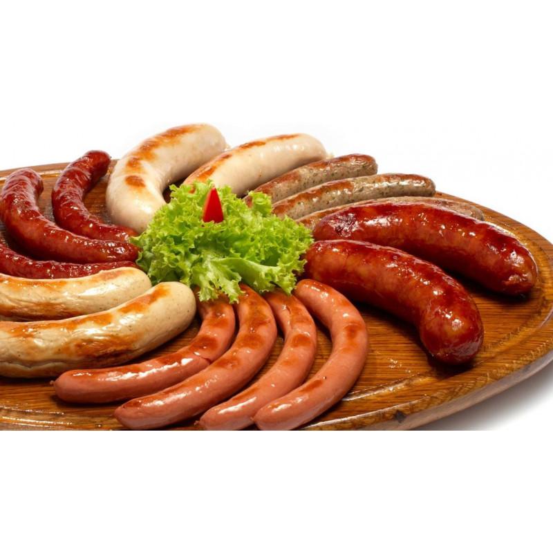 Ассорти домашних колбасок на гриле